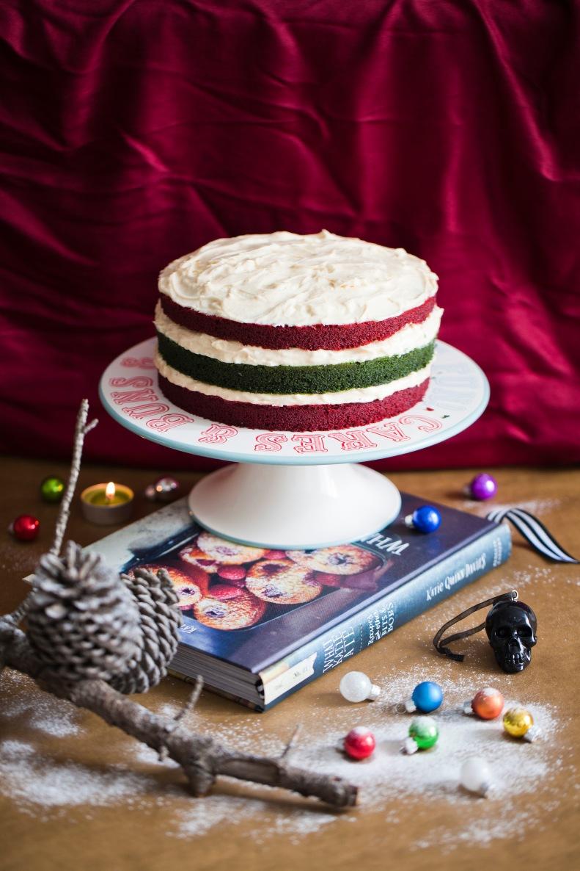 a very merry christmas velvet cake