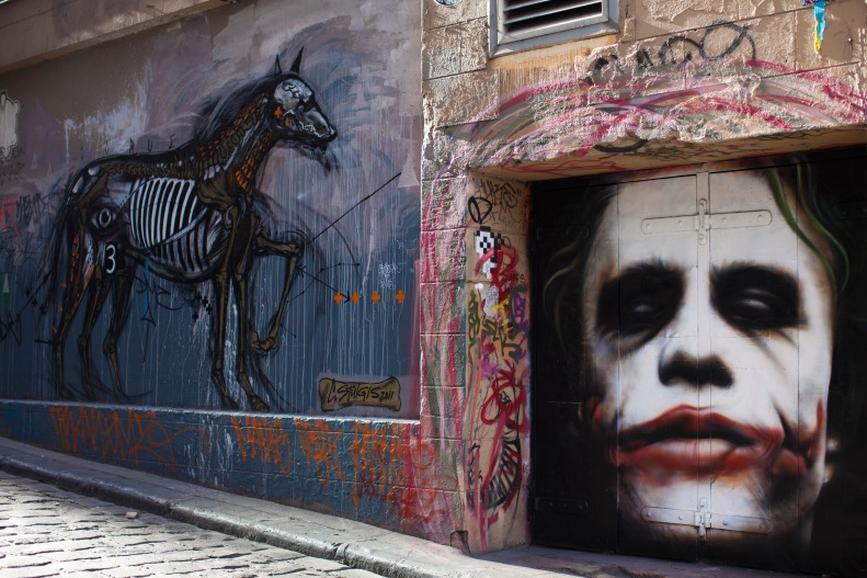 take in the terrific, ever-changing street art