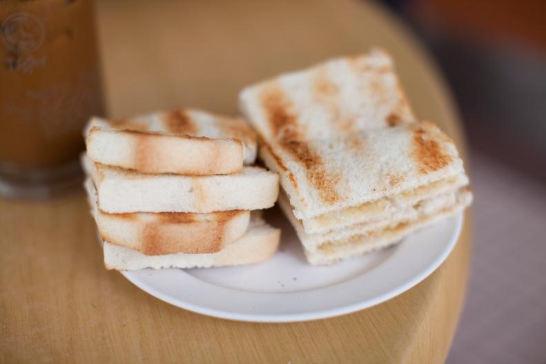 the homemade kaya toast
