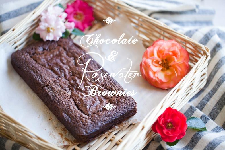 chocolate & rosewater brownies