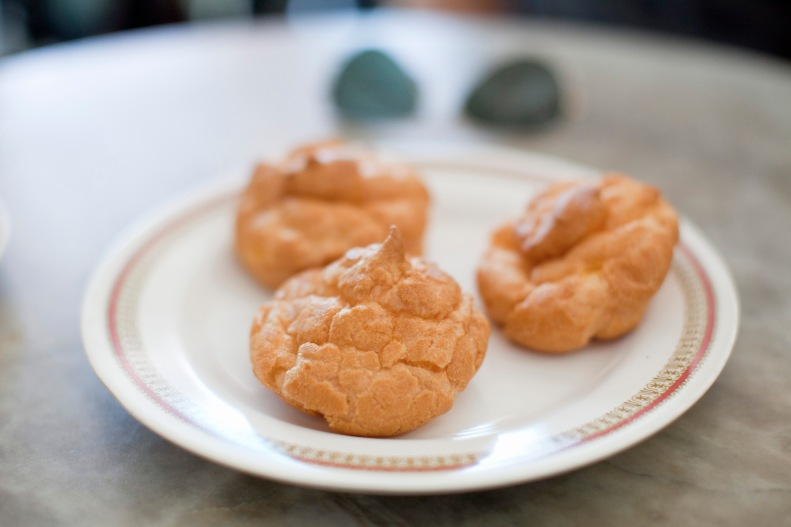 custard puffs that never stay in the pastry cabinets for long