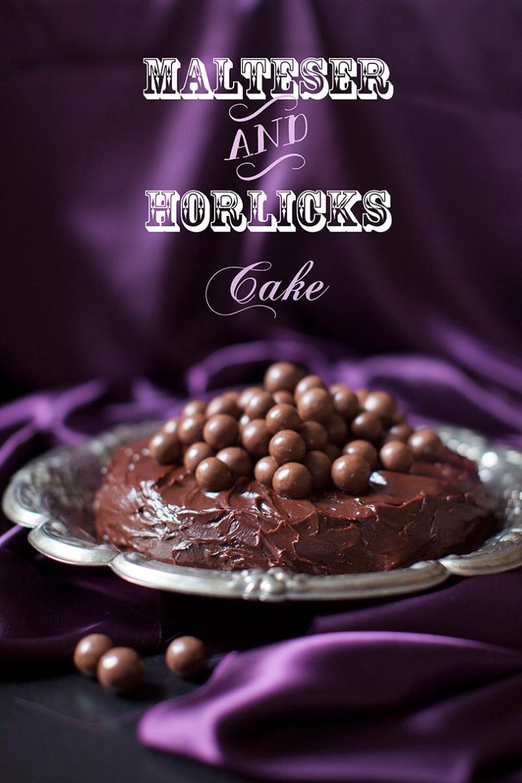 malteser & horlicks cake