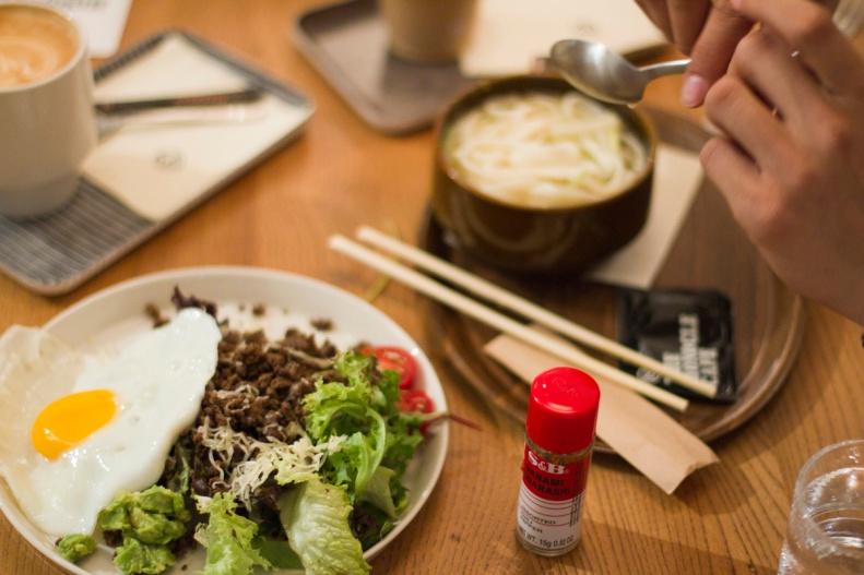 sit down to simple & sleek japanese-influenced food