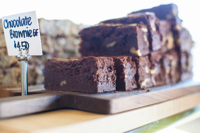 how about a formidable mountain of chocolate brownie?