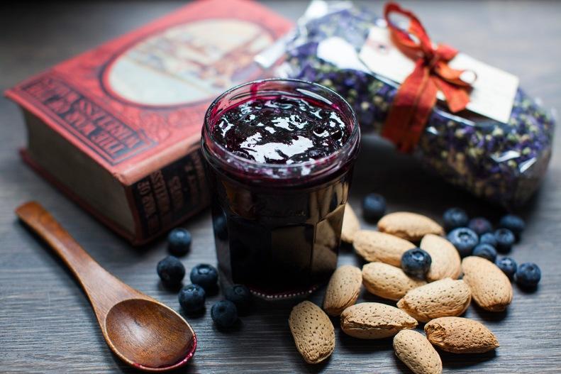 blueberry + lime breakfast jam | milk, chai & honey