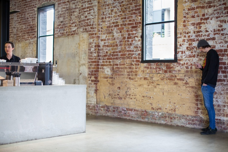the space is a beautifully converted, expansive warehouse, permeating w/ lots of light & the bewitching whiff of freshly baked goods